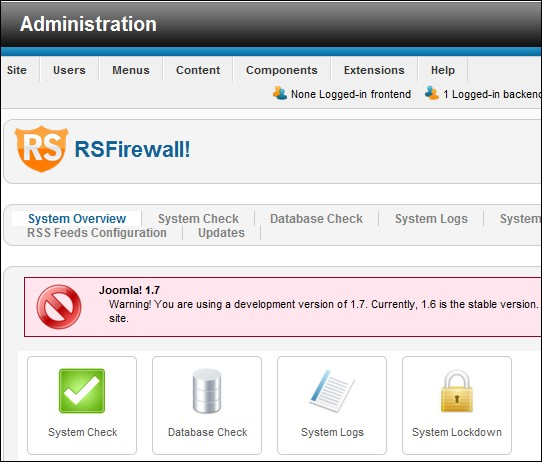 RSFirewall! compatible with Joomla! 1.7