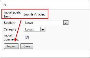 Import articles from Joomla! content, K2 and MyBlog