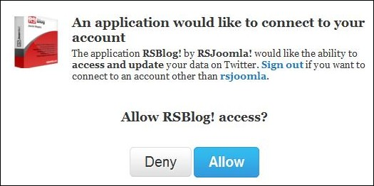 RSBlog! - automatically publish Joomla! posts to twitter
