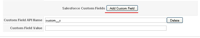 RSForm!Pro Salesforce custom fields