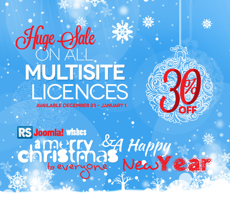 RSJoomla! Christmas sale
