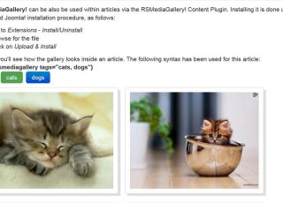 Content Plugin allows you to place image galleries in your articles