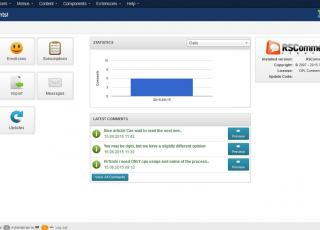 Dashboard view of Joomla comment system from RSJoomla