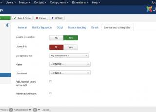 Integration of Joomla! mail with third parties