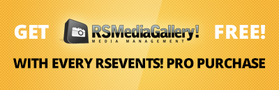 Get RSMediaGallery! free with every RSEvents! Pro subscription!
