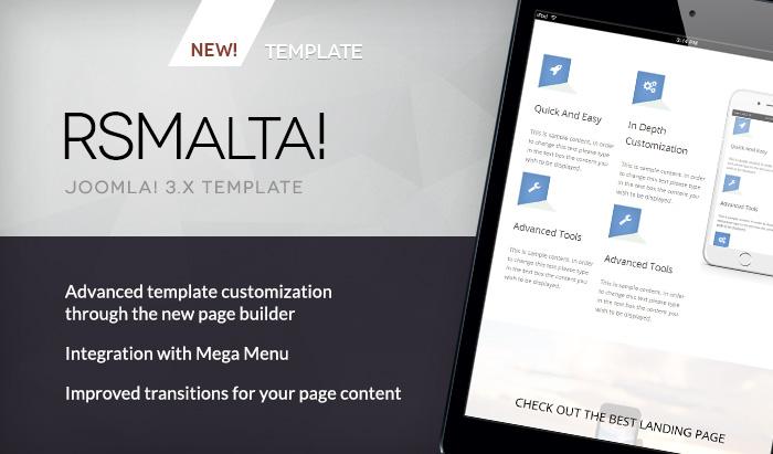 RSMalta Our New Joomla Template - Joomla landing page template