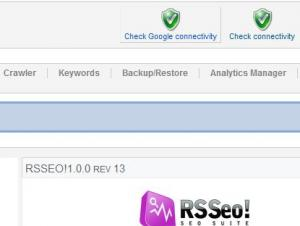 RSSeo! Check Google connectivity