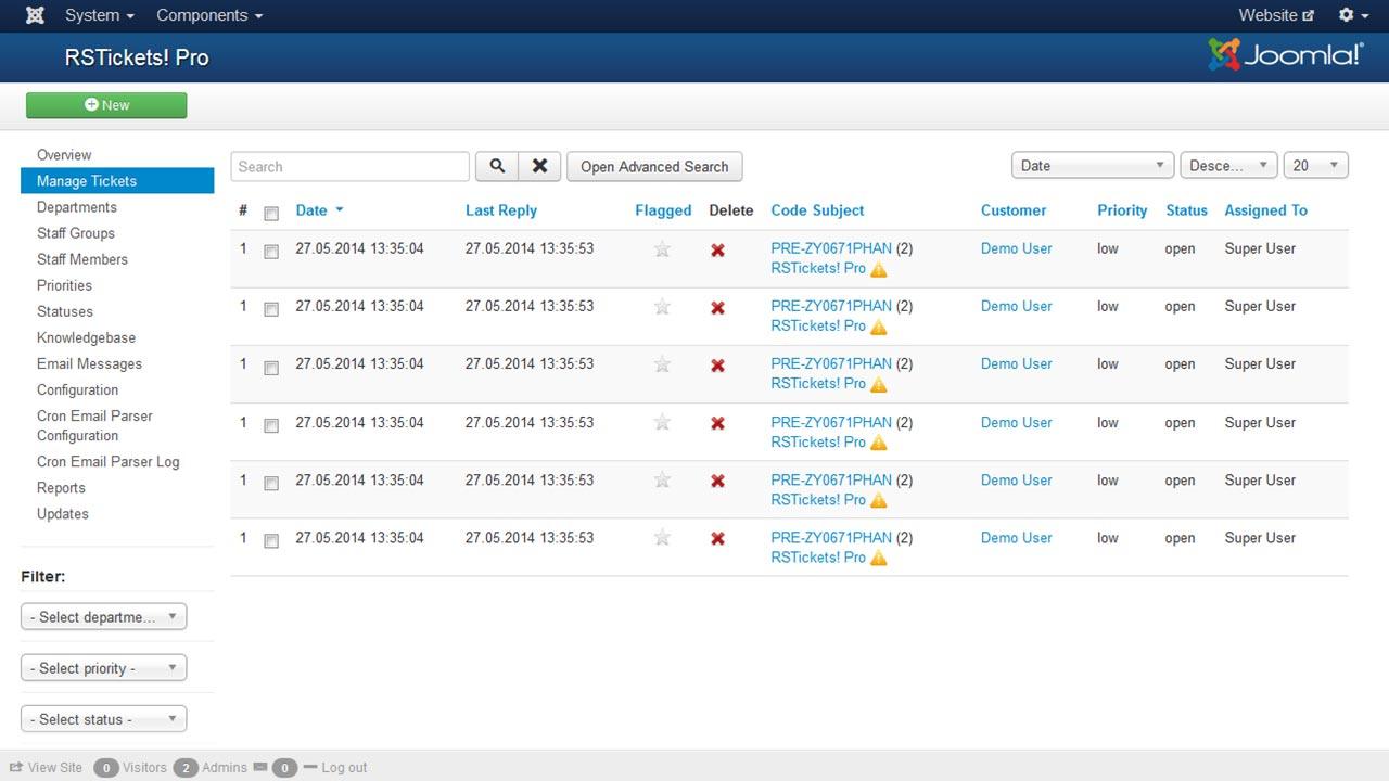Piattaforma Help Desk - Ticketing per Joomla!